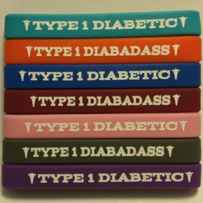 type_1_diabetic_diabadass_medical_id_bracelet_silicone_rubber_dia-badass_wristband