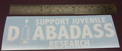 Support Juvenile Diabadass Diabetic Sticker Decal Diecut Dia-badass Vinyl