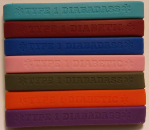 type_1_diabetic_diabadass_medical_id_bracelet_silicone_rubber_wristband